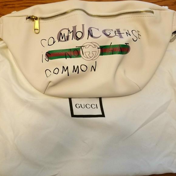 cd91d7644af White Gucci Coco Capitán logo belt bag